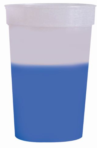 Frosted to Blue 12 oz color changing cup