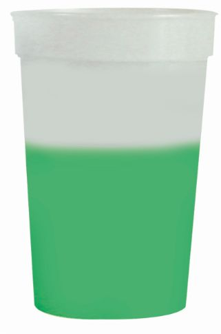 Frosted to Green 12 oz color changing cup