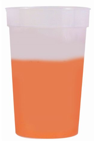 Frosted to Orange 12 oz color changing cup