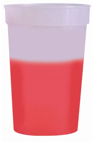 Frosted to Red 12 oz color changing cup