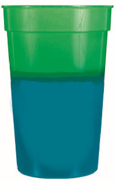 Green to Blue 12 oz color changing cup