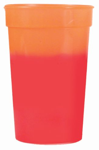 Orange to Red 12 oz color changing cup
