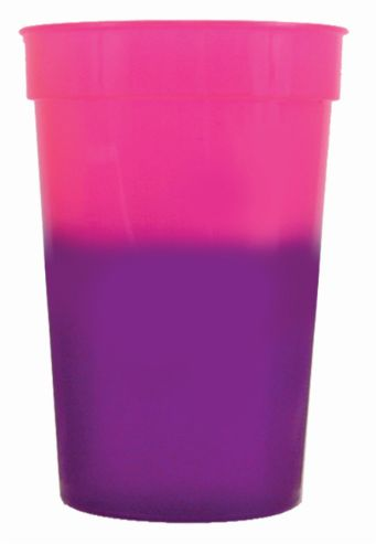 Pink to Purple 12 oz color changing cup