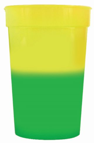 yellow to green 12 oz color changing cup